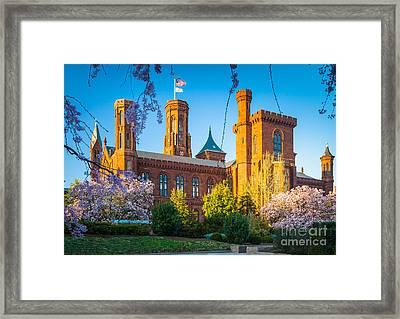 Smithsonian Castle Framed Print by Inge Johnsson