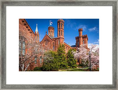 Smithsonian Castle Wall Framed Print by Inge Johnsson