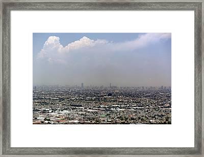 Smog Over Mexico City Framed Print