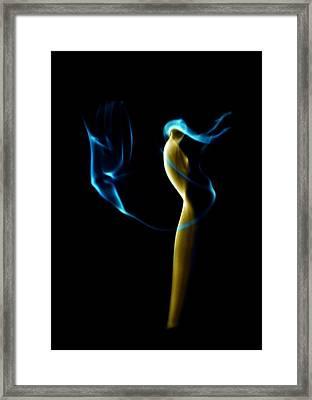 Smoke 2 - Solitude Standing Framed Print by Mark Fuller
