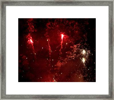 Smoke And Fire Framed Print by JS Rose Photography