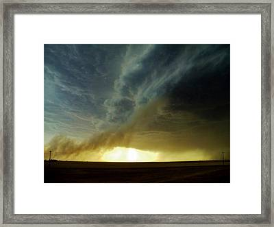Smoke And The Supercell Framed Print