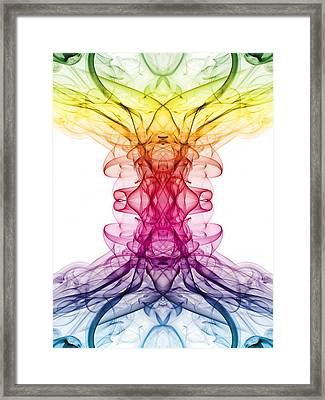 Smoke Art 9 Framed Print by Steve Purnell