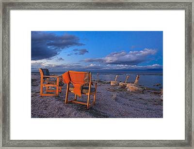 Smoke Break In The Ruins Framed Print by Scott Campbell