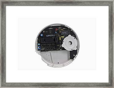 Smoke Detector Interior View Framed Print