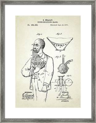 Smoke Excluding Mask Patent Framed Print