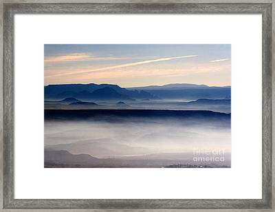 Framed Print featuring the photograph Smoke From A Forest Fire As Seen From Jerome Arizona by Ron Chilston