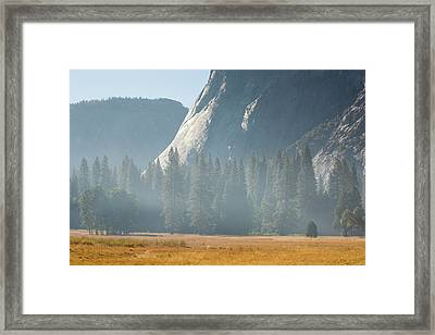 Smoke From A Forest Fire Framed Print by Ashley Cooper