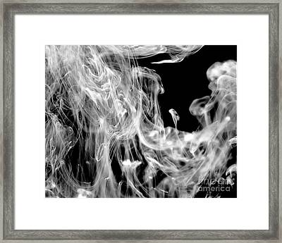 Smoke In The Water Framed Print