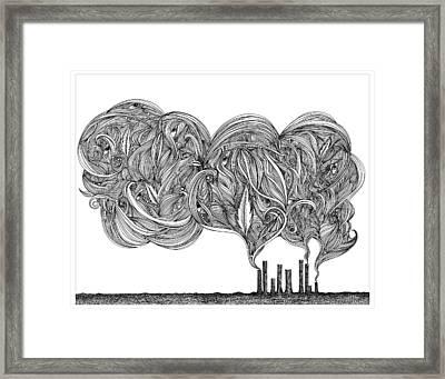 Smoke Framed Print by Jody Pham