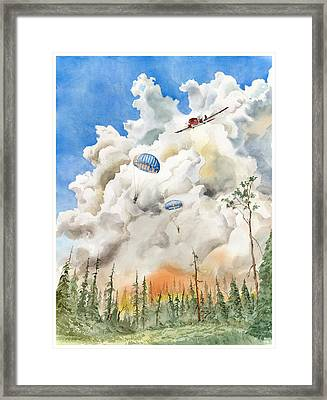 Smoke Jumpers Framed Print