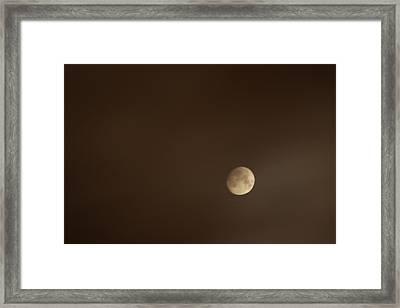 Smoke Lit Moon Framed Print