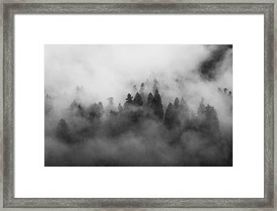 Smoke On The Mountain Framed Print