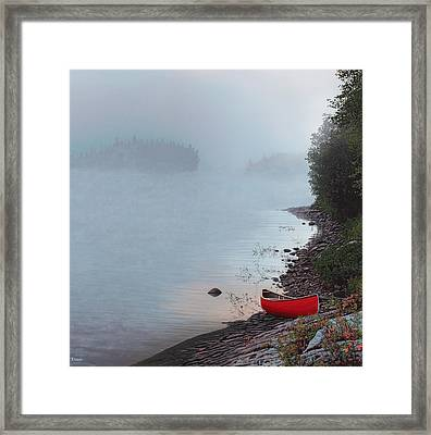 Smoke On The Water Framed Print by Kenneth M  Kirsch