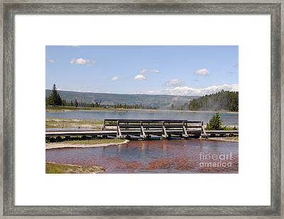 Framed Print featuring the photograph Smoke On The Water by Mary Carol Story