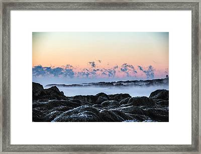 Smoke On The Water Framed Print by Robert Clifford