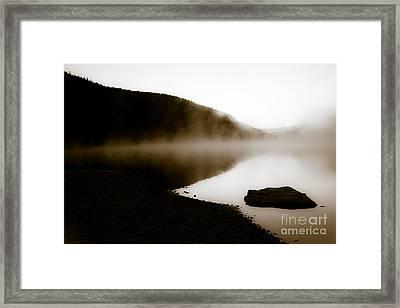 Smoke On Turquoise Lake Colorado Framed Print