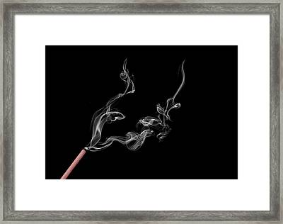 Smoke Photography Framed Print by Jay Harrison
