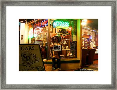 Smoke Shop Framed Print