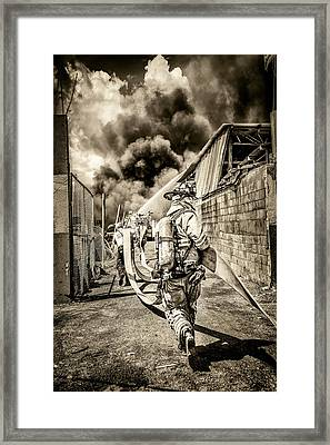 Smoke Showing Framed Print by Scott Mullin