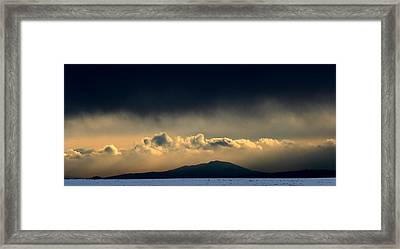 Framed Print featuring the photograph Smoke Signals by Silke Brubaker