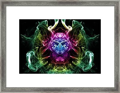 Smoke Warrior Framed Print by Steve Purnell