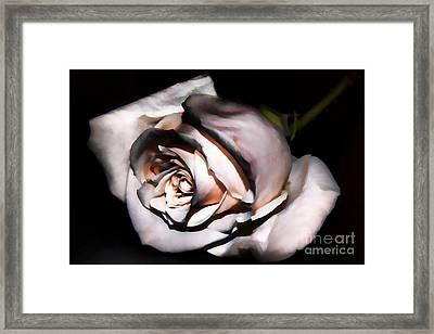 Smoked Rose Framed Print by Mariola Bitner