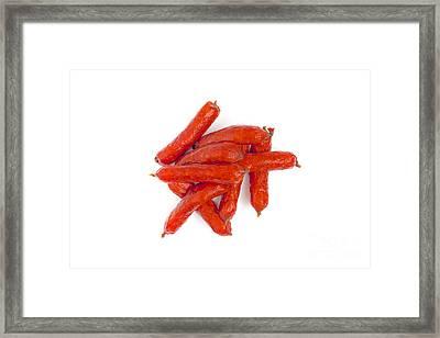 Smoked Sausages Framed Print by Aleksey Tugolukov