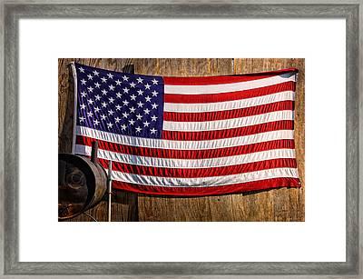 Smoker Flag Framed Print