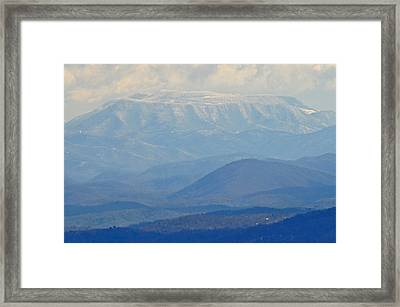 Smokey Blue Flat Top Framed Print by Peter  McIntosh
