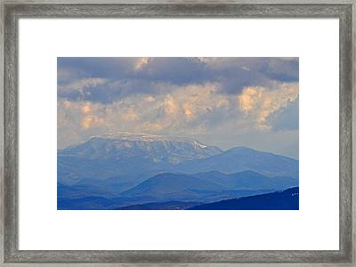 Smokey Blue Morning Framed Print by Peter  McIntosh
