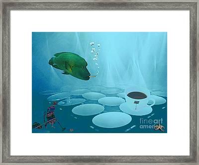 Framed Print featuring the digital art Smokey Joe's Cafe by Mojo Mendiola