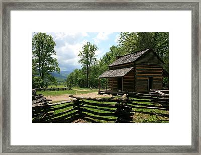 Smoky Mountain Cabin Framed Print by Marty Fancy