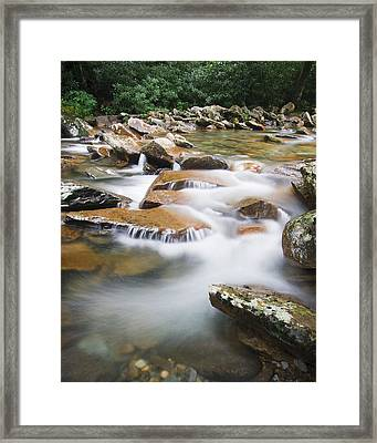 Smokey Mountain Creek Framed Print by Adam Romanowicz