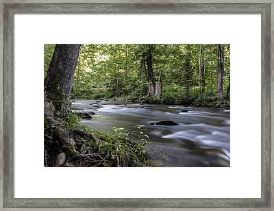 Smokey Mountain River  Framed Print by John McGraw