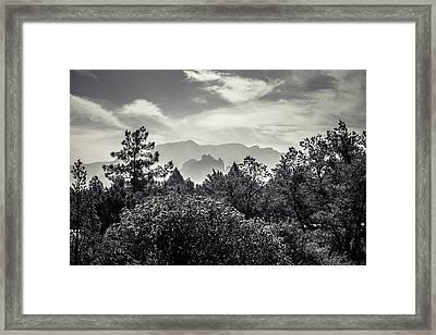 Smokey Sedona Mountians  Framed Print