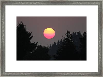 Smokey Sunrise Framed Print