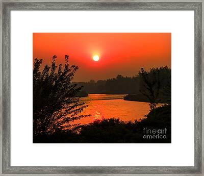 Smokey Sunrise Framed Print by Robert Bales