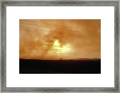 Smokey Sunset Framed Print by Aliceann Carlton