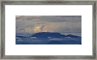 Smokey Tippy Top Morning Framed Print by Peter  McIntosh