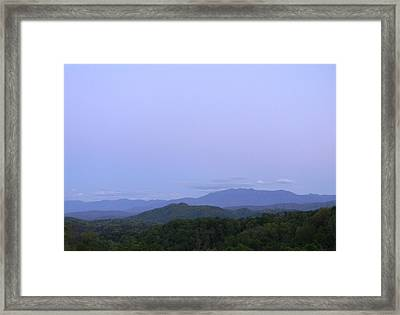 Smokies At Dusk Framed Print