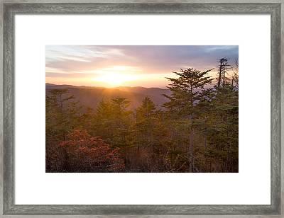 Smokies Sunset Framed Print by Doug McPherson