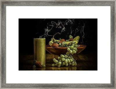 Smokin' Bowl Framed Print by PhotoWorks By Don Hoekwater