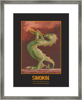 Smokin' Framed Print by Leonard Filgate