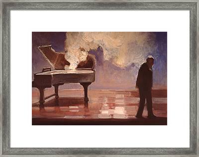 Smokin Piano Framed Print by Emily Gibson