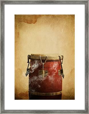 Smoking Congas Framed Print by Roberto Adrian