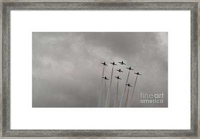 Smoking Planes Framed Print by Tracey Williams