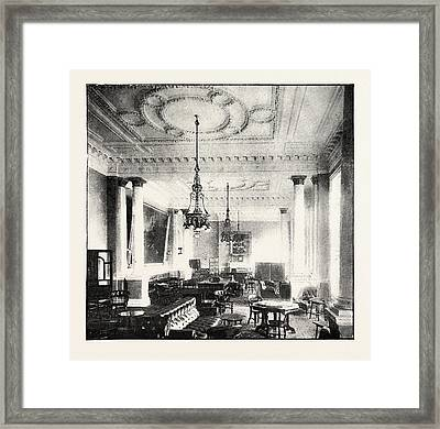 Smoking Room At The Junior Constitutional Club Framed Print