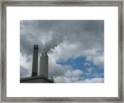 Smoking Stack Framed Print by Ann Horn