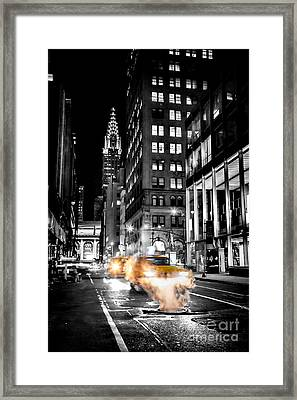 Smoking Streets Of New York  Framed Print